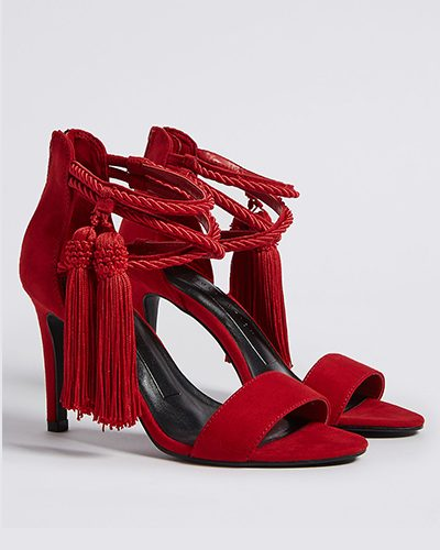 M&S, Stiletto Heel Zip Tassel Sandals £35