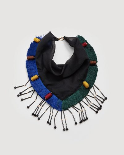Mango, Fringed Embroidered Scarf £19.99